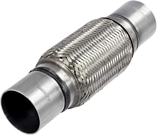 Upower 2.25 Inch Diameter Exhaust Flex Extension Pipe Connector Tube, 4