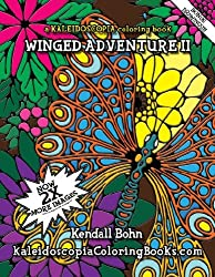 Winged Adventure A Kaleidoscopia Coloring Book – Adult Coloring ...