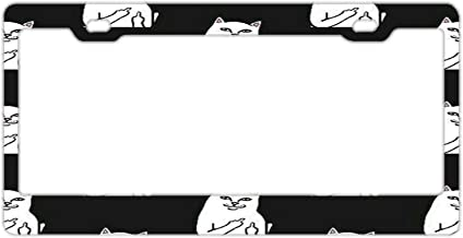 Fairyshop Sorry No Hablo Fucktardo Auto License Plate Frame 4 Holes Funny Stainless Steel Metal Car Tag Holder for Us Standard