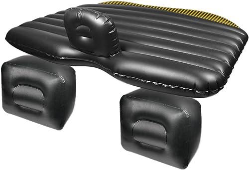 SDKHF Matelas Gonflable de siège arrière de Voiture de Camping de Voyage de lit Multifonctionnel d'air de Voiture pour Le Repos de Repos et de Voyage (lit d'air × 1 Oreiller × 2 Pompe à air × 1)
