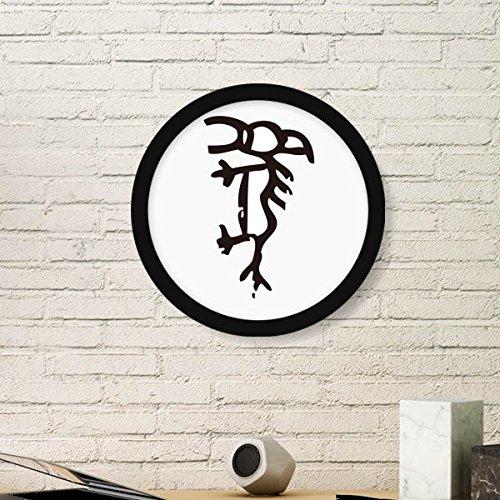 DIYthinker Bones Inscripties Chinese Zodiac Paard Ronde fotolijst Kunst Prints Van Schilderijen Thuis Muursticker Gift
