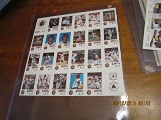 1984 California Angels uncut 22 Baseball Card Sheet - Reggie Jackson ftbox2