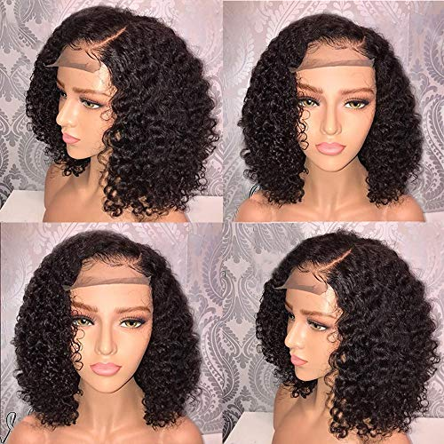 FORUU Wigs, 2020 Valentine's Day Surprise Best Gift For Girlfriend Lover Wife Party Under 5 Free delivery Brazilian Less Lace Front Full Wig Bob Wave Black Natural Looking Women Wigs