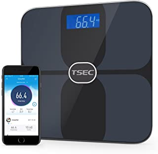 STORM TECH Bluetooth Digital Smart Weight Scale Wireless Connected Solution for Your Body Data, BMI, Body Fat, Muscle Mass, Water Weight, Bone Mass, Sync with IOS and Android App