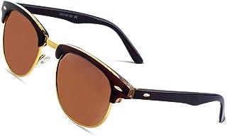 CGID MJ56 clubma Unisex Retro Vintage Sonnenbrille im angesagte 60er Browline-Style mit markantem Halbrahmen Sonnenbrille,Brillen trends 2018