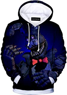 Unisex 3D Five Nights at Freddy Cartoon Hoodie Men Boy Girls Cosplay Costume Pullover Sweatshirt