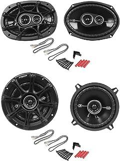 """$129 » KICKER (2) 41DSC6934 6x9 360W Car Speakers+(2) 41DSC54 5. 5.25"""" 200W Speakers"""