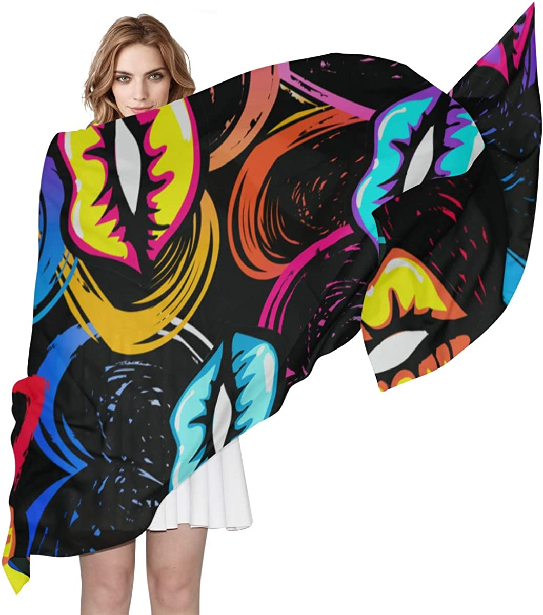 Womens Shawls And Wraps Art Block Fashion Graphic Graffiti Gifts For Women Scarf Men Fashion Head Scarfs Lightweight Print Scarves Scarf Shawl Lightweight Scarfs For Women