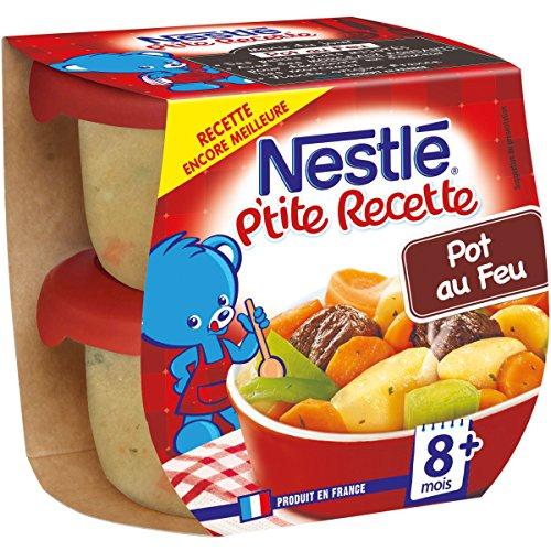 Nestlé Bébé P'tite Recette Pot Au Feu - Plat complet dès 8 mois - 2 x 200g - Pack de 8 ( 16 Plats )