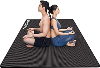 Large Exercise Mat 200x130CM Ultra Thick 15mm Yoga Mat Non-Slip Workout Mats for Home Gym Flooring Fitness Mat Cardio Equi...