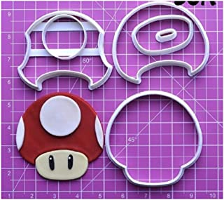 Game Super Mario Cookie Cutter Set Custom Made 3D Printed Fondant Cupcake Top Decoration Tool - 05 (2 inch)
