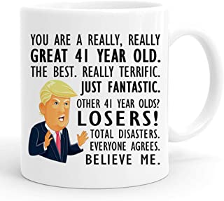 joey 41st Birthday Gift Trump Mug,11 Ounces, Funny Donald Trump Gag Coffee Mugs,1978 41 Year Old Birthday Gifts for Him, Friend, Dad, Brother, Husband, Grandpa, Coworker