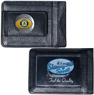Siskiyou MLB Oakland Athletics Leather Cash and Card Holder