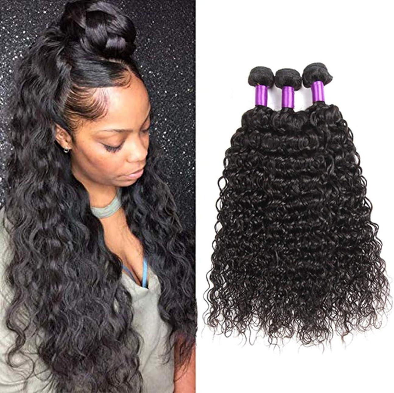 楕円形道を作る今前頭水の波が付いている10Aブラジルのバージンの毛の束を編む閉鎖閉鎖の湿気があるそして波状のバージンの人間の毛髪が付いている1束