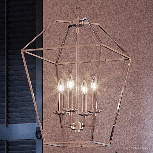 Colonial Silver Five Light Chandelier - 6