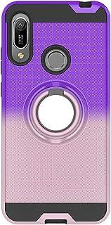 FAWUMAN Coque pour Samsung Galaxy S9+ Bleu-Violet TPU Double Layer Housse r/ésistant aux Chocs avec Support /à Anneau Rotatif /à 360 degr/és S9 Plus,Anti-Glisse 3D en r/ésille Bo/îtier PC