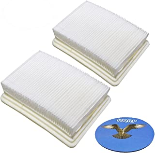 HQRP 2-Pack Washable & Reusable Filters Works with Hoover FH40010 / FH40010B / FH40030 / FH40011B SpinScrub FloorMate Hard Floor Cleaner Upright, 59177051/40112050 Coaster