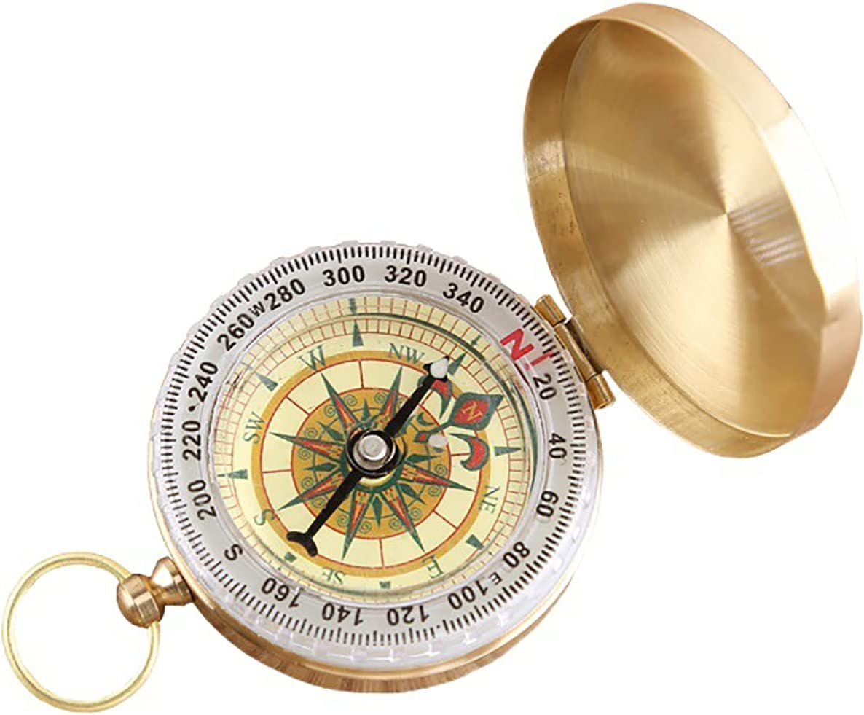 OMVOVSO Retro Genuine Brass Compass Outdoor Portable Waterproof Pocket Special Campaign