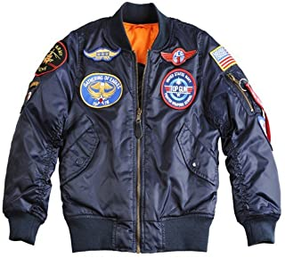 Bomber Alpha Industries MA-1 Patch Kids 8 Azul