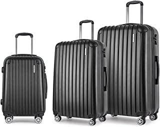 3pc Luggage Suitcase Trolley Set TSA Travel Carry On Bag Hard Case Lightweight
