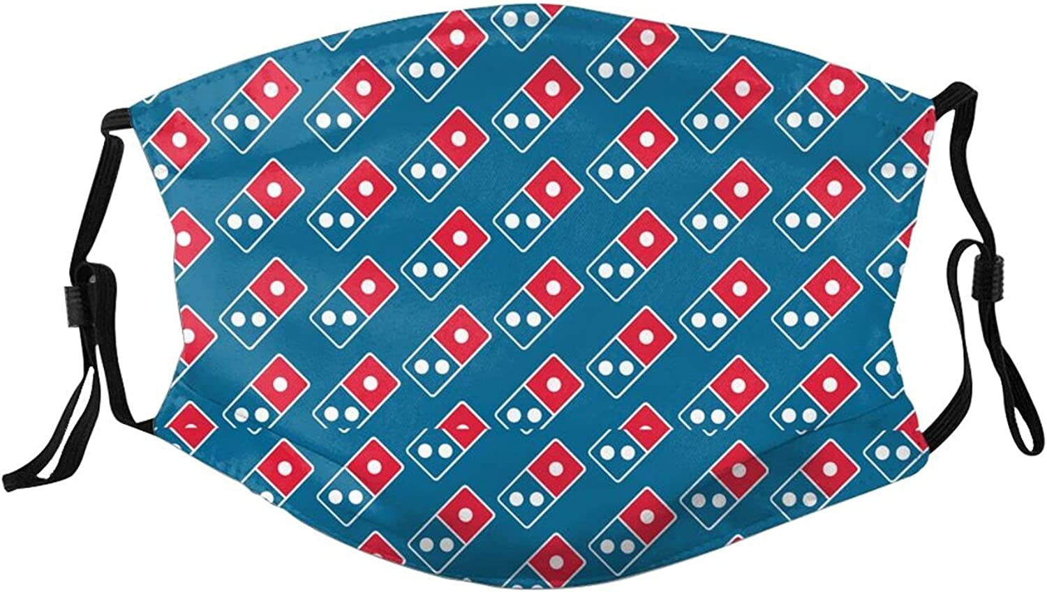 Dominos Pizza Logo Face Mask with Filter Mouth Cover Bandana Headwear Cloth Washable Balaclava