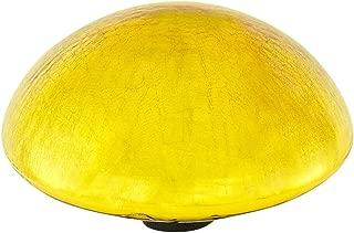 Achla Designs Glass Toadstool Mushroom Gazing Ball, Yellow