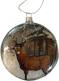 KKC Deer Christmas Ornaments Antler Buck Silver Horn Hunting