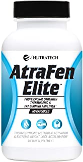 Best Atrafen Elite - Professional Formula Appetite Suppressant Fat Burner Diet Pill and Thermogenic for Fast Weight Loss. Works Great for Those on Keto Diets. 60 Count. Review