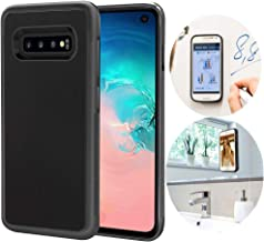 CloudValley Anti Gravity Galaxy S10 Case, Magical Nano Can Stick to Glass, Whiteboards, Tile and Smooth Flat Surfaces for Samsung Galaxy S10 (2019)-Black