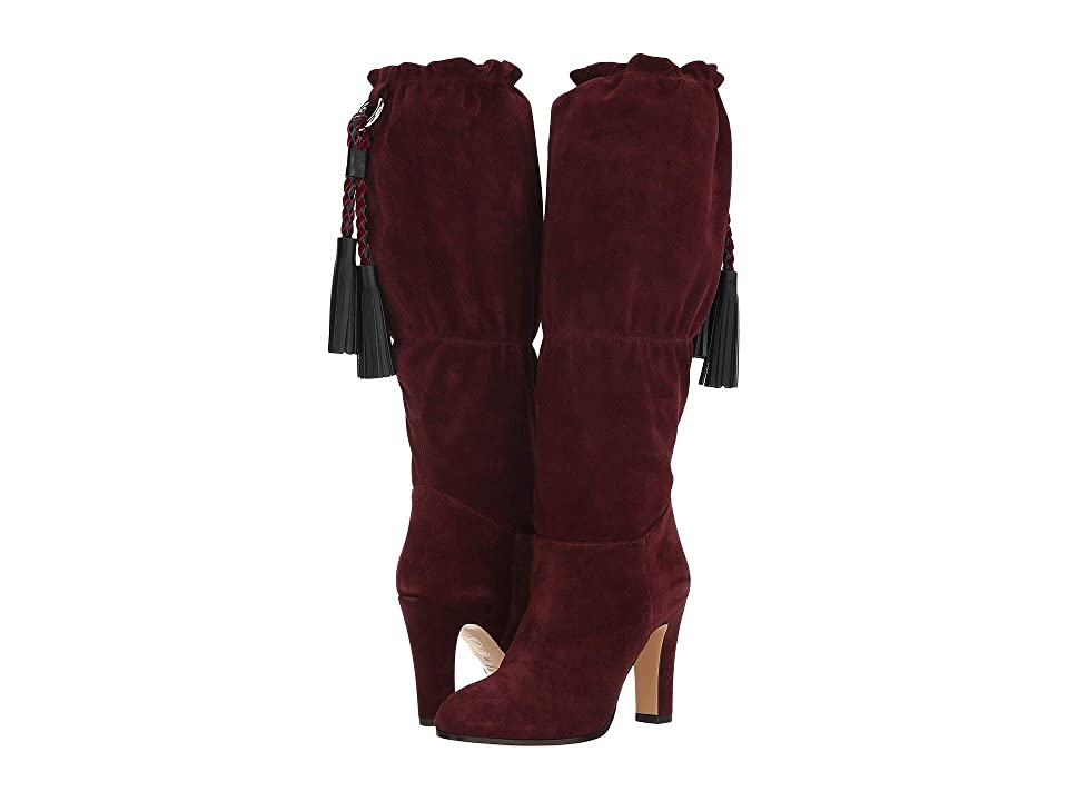 Etro Suede Boot (Burgundy) Women