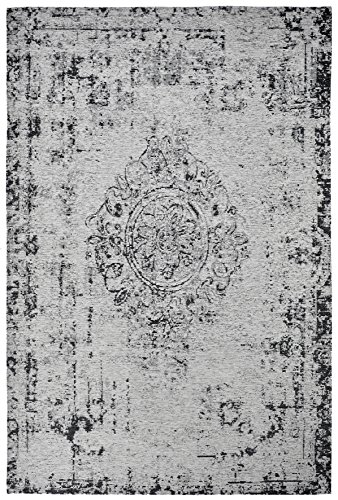 Moderner Teppich Vintage my Milano 572 grau, rot, gelb, shabby look,used look, flachgewebe (155 x 230 cm, MIL 572 silber grau)