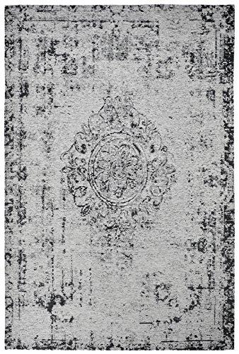 Obsession Moderner Teppich Vintage My Milano 572 grau, rot, gelb, Shabby Look,Used Look, flachgewebe (155 x 230 cm, MIL 572 Silber grau)