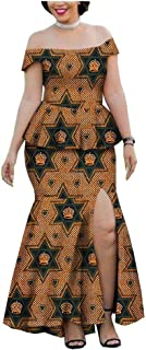 African Dresses for Women 2 Piece Top+Skirt Party wear Girls Ankara Wedding Cocktail Party Prom