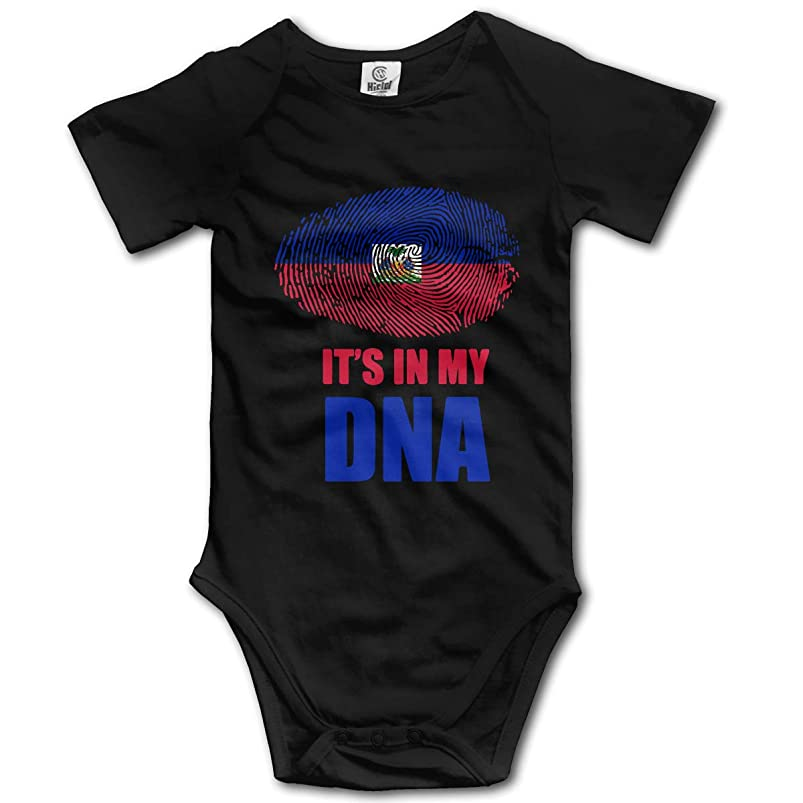 Haitian It's in My DNA Newborn Girls & Boys Short Sleeve Bodysuit Romperss 0-2T odkasffk129532