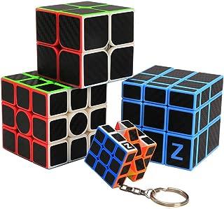 HelloCube ZCUBE Carbon Fiber Sticker 333 Magic Cube Children Teaser