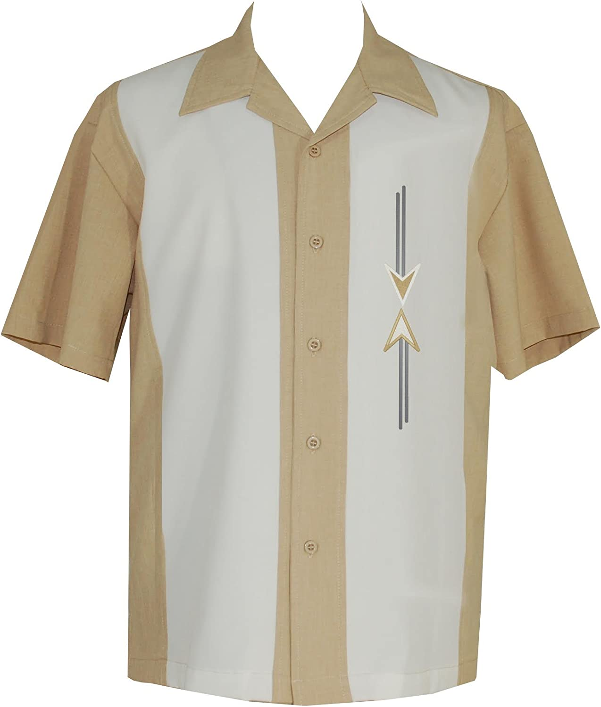 Lucky ParadiseMens Camp Shirt, Vintage Cuban Style Bowling Shirt ~ Tom Collins ~ Guayabera Dress Shirt Style