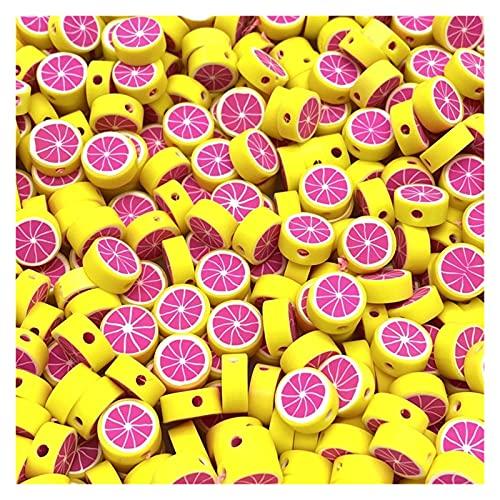 BOSAIYA Zz0 30 unids/Lote 10 mm Beads de Frutas Polímero Clay Beads Color Mezclado Polmer Polmer Spacer Beads para joyería Fabricación de Bricolaje Collar de Pulsera Tl519 (Color : 15)