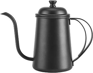 Yosoo Stainless Steel Tea Coffee Kettle Pour Over Coffee Pot Gooseneck Coffeepot Teapot 650ML (22oz) (Black)