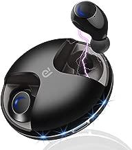 Wireless Earbuds, Bluetooth 5.0 True Wireless Headphones, Hands Free Sweatproof Earbuds 15H Playing Time Built-in HD Dual Microphone – Black