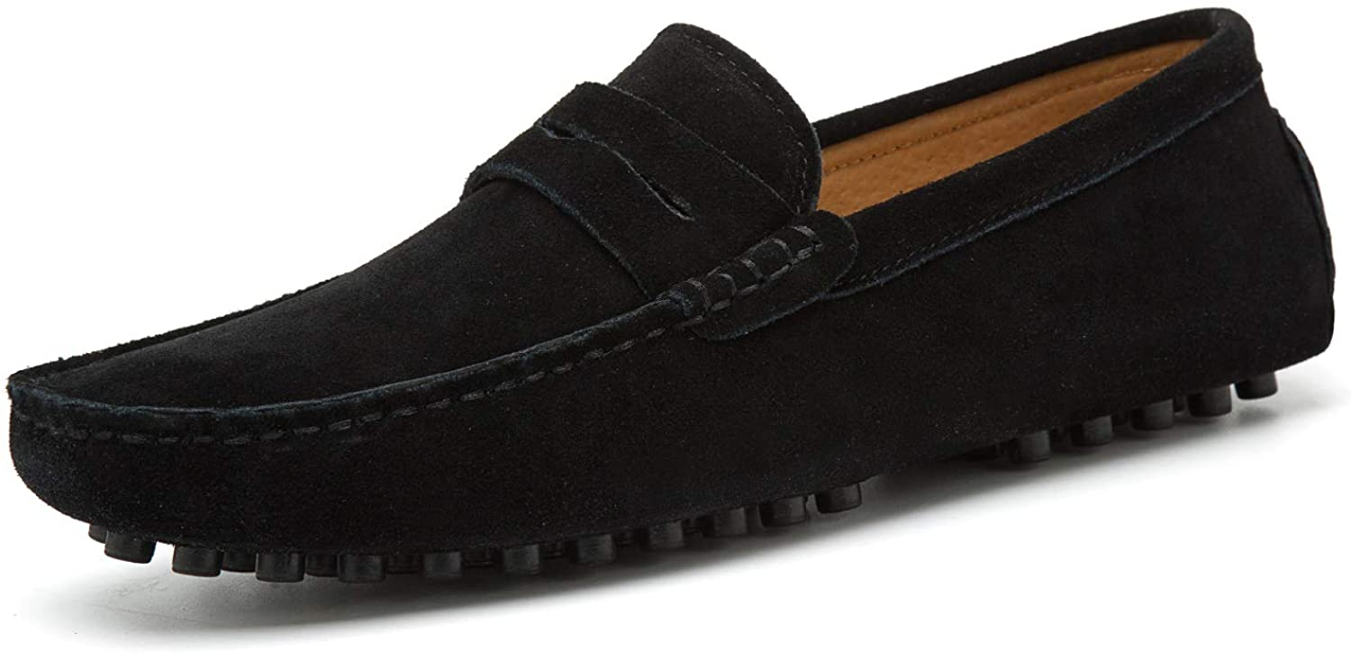 Go Tour Men's Online limited product Penny Loafers Moccasin On Shoes Slip Driving Flats Attention brand
