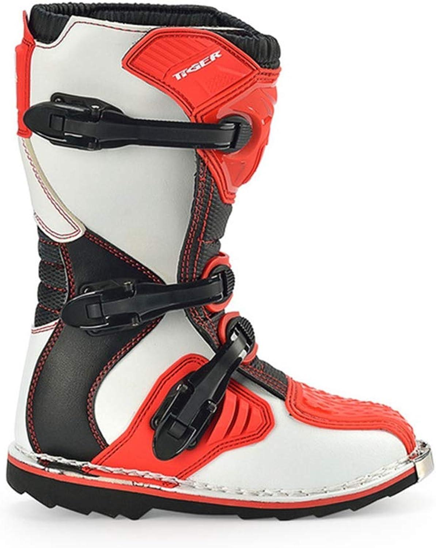 XSWE Motorradstiefel Off Road Racing Schuhe, wasserdicht und