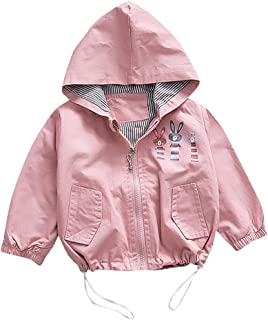 WARMSHOP Little Boys Girls Hooded Jacket for 1-4 Years Old,