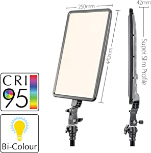 GLOWPAD Kit Single Head 350D continuous constant light panel LED light...