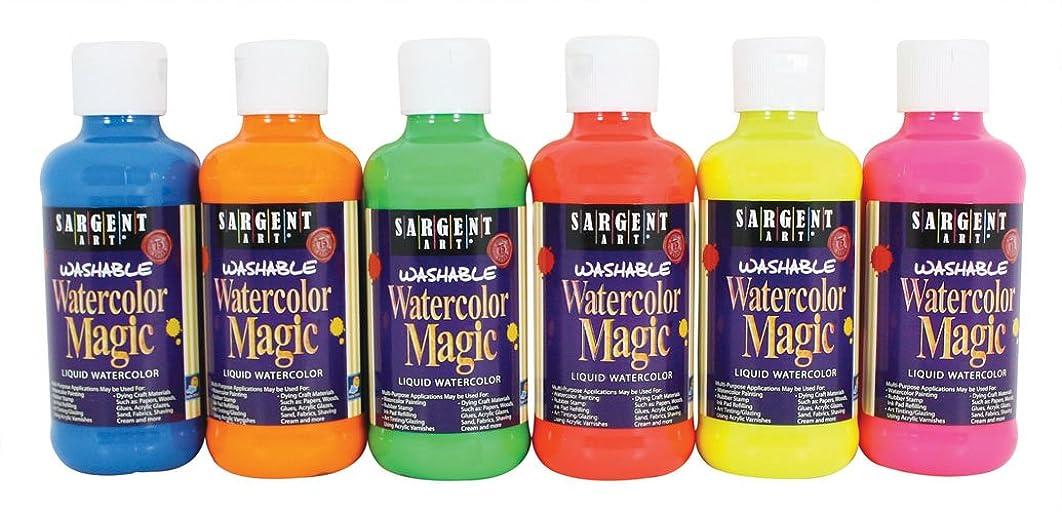 Sargent Art 22-7099 6-Count 8-Ounce Fluorescent Watercolor Magic Set