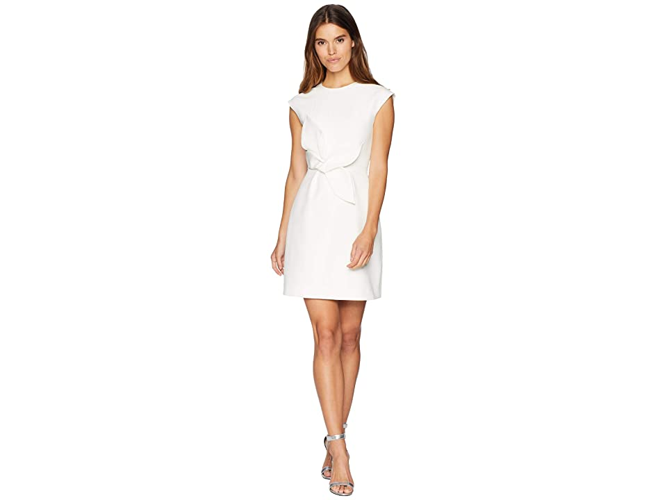 Ted Baker Ppollyd Cap Sleeve 3D Floral Tulip Dress (Ivory) Women