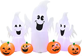 B.N.X Halloween 7 Ft Inflatable Ghosts and Pumpkins Decoration for Home Yard Lawn Indoor Outdoor
