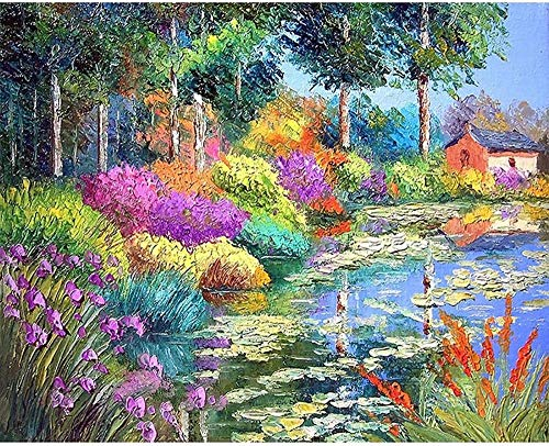 LSDAMW 5D Diamond Painting Bushes Kit by Number Kits for Adults Paint with Diamonds Arts DIY for Home Decor 12x16inch