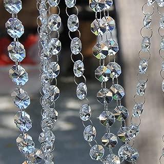 Davias 13 Feet Crystal Beads Chain Garland of Clear Chandelier Bead Lamp Chain