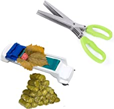 PomeMall Dolma Sarma Sushi Rolling Machine 2.5 inches length PLUS Multipurpose Kitchen Shear Herb Scissors with 5 Blades