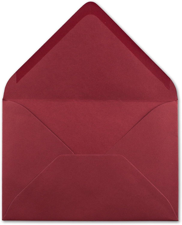 700 DIN C6 C6 C6 Briefumschläge Dunkelrot - 11,4 x 16,2 cm - 80 g m² Nassklebung spitze Klappe - aus der Serie Colours-4-you - Glüxx-Agent B07QJZ9W48   Elegant  6cedf8